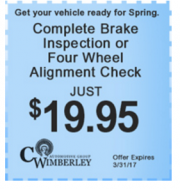 C. Wimberley : Brake%20inspection%20%26%20alignment%20check